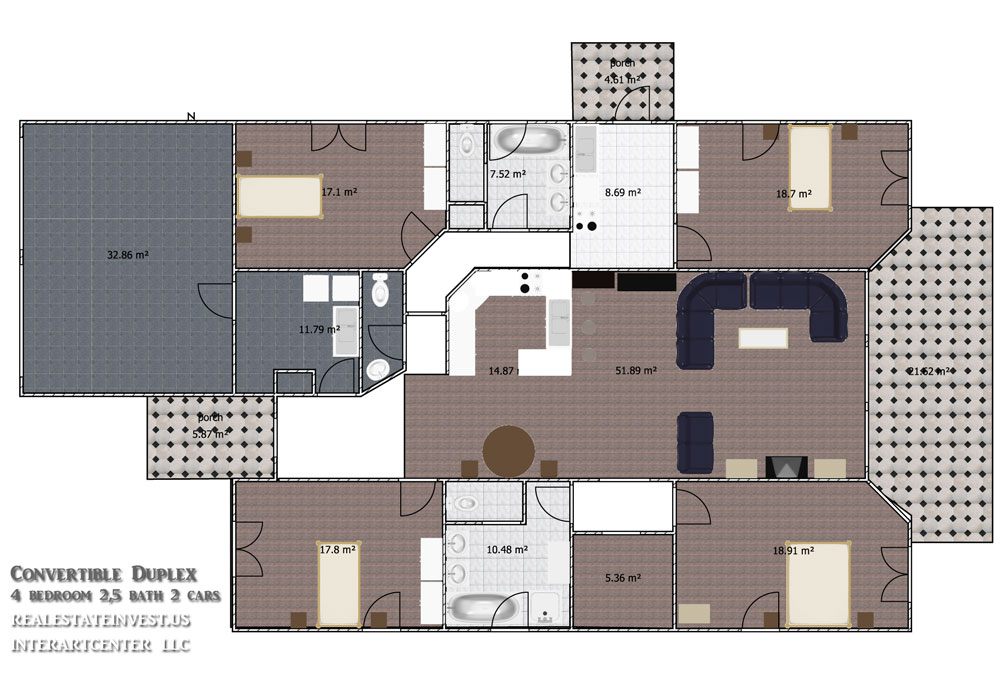 3 bedroom duplex floor plans home mansion for Duplex plans 3 bedroom