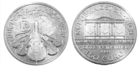 Silver Philharmonic Coin - 1 oz. €1.5 Euro, Bullion coin