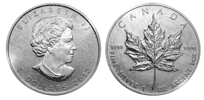 Silver Maple Leaf - 1 oz. $5, Bullion coin