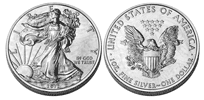 US Silver Eagle - 1 oz. $1, Bullion coin
