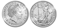 Silver Britannia - 1 oz. £2 , Bullion coin